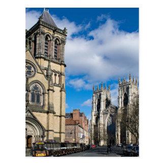 Saint Wilfrids and York Minster. Postcard