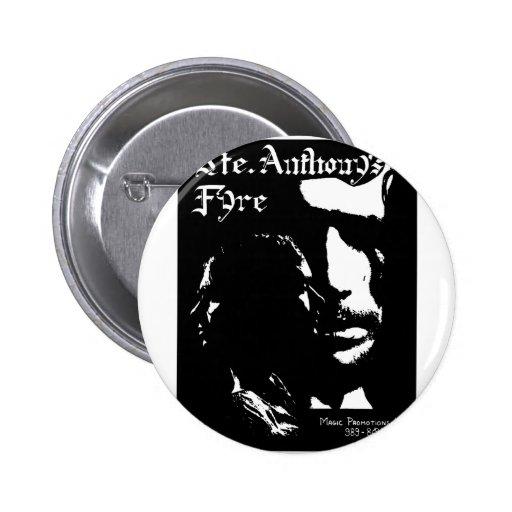 Sainte Anthony's Fyre Band - 1970 2 Inch Round Button
