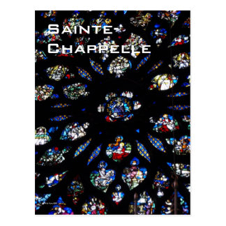 Sainte-Chappelle Rose Window Postcard