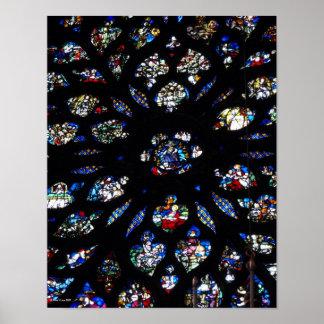 Sainte-Chappelle Rose Window Print