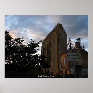 Sainte Emilion, Francia Póster