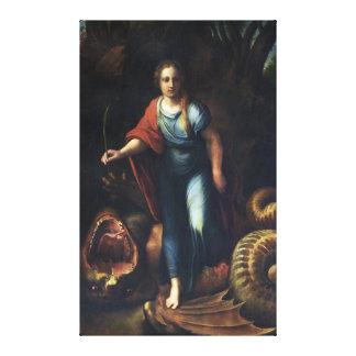 Sainte Marguerite by Raphael Canvas Print