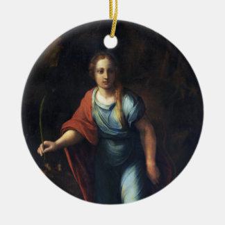 Sainte Marguerite by Raphael Ceramic Ornament