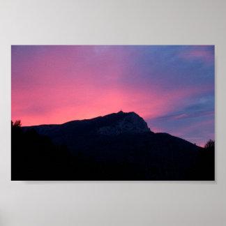 Sainte Victoire Sunrise Poster