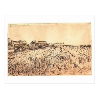 Saintes-Maries with Cemetery, Van Gogh Fine Art Postcard