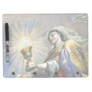 saintly cup dry erase board with keychain holder
