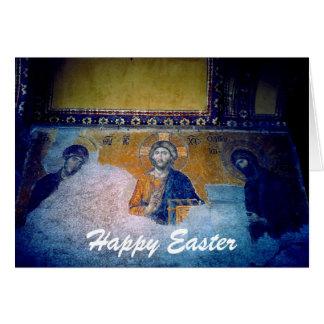 saintly easter mural greeting card