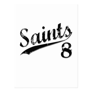 Saints 8 postcard