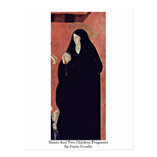 Saints And Two Children Fragment By Paolo Uccello Postcard