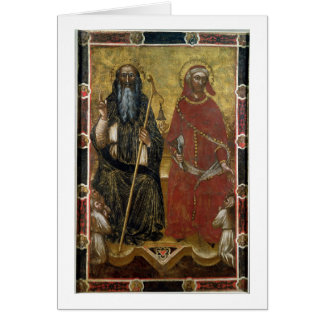 Saints Anthony Abbot and Eligius - Painted process Card