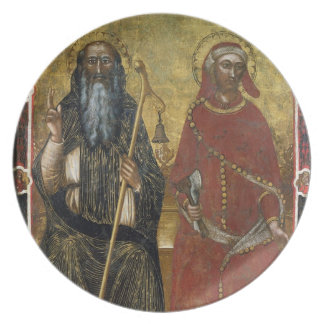 Saints Anthony Abbot and Eligius - Painted process Plate