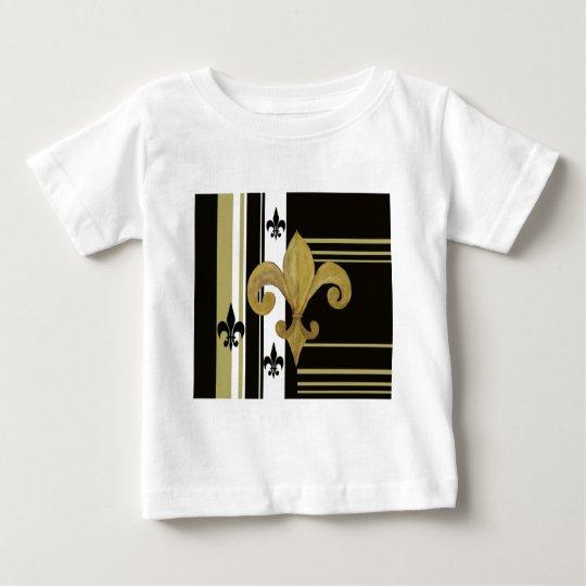 Saints Black and Gold Fleur de lis Baby T-Shirt