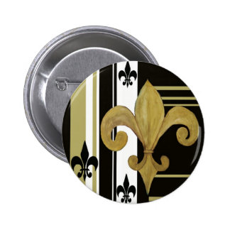 Saints Black and Gold Fleur de lis Buttons