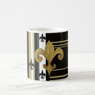 Saints Black and Gold Fleur de lis Mug Basic White Mug