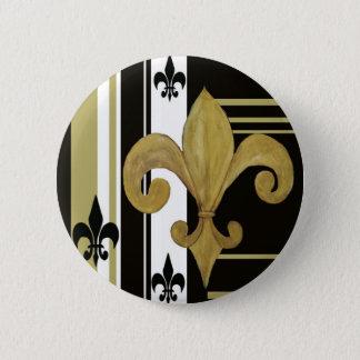 Saints Black and Gold Fleur de lis Pinback Button