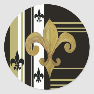 Saints Black and Gold Fleur de lis Stickers