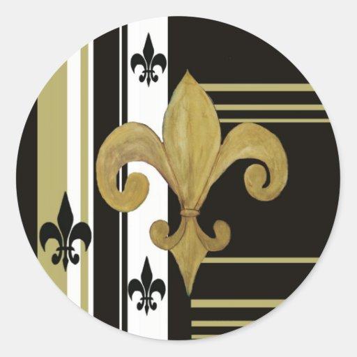 Saints Black And Gold Fleur De Lis Stickers Zazzle