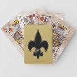 Saints Fleur de Lis Bicycle Playing Cards