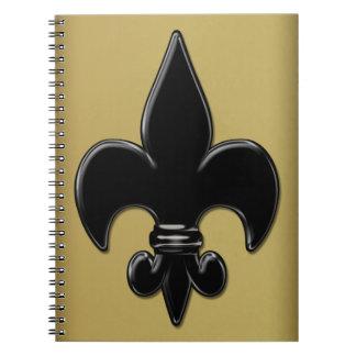 Saints Fleur De Lis Notebook