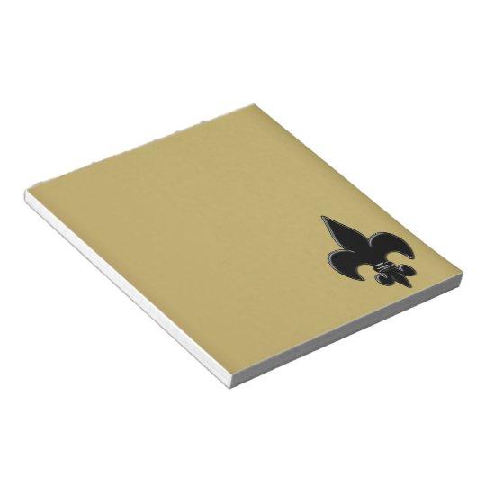 Saints Fleur De Lis Notepad