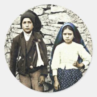 Saints Francisco & Jacinta Marto Canonization Classic Round Sticker