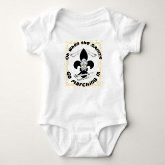 Saints Go Marching In Baby Bodysuit
