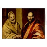 Saints Peter and Paul by El Greco Greeting Cards