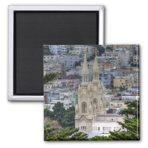 Saints Peter and Paul Church In San Francisco Magnets