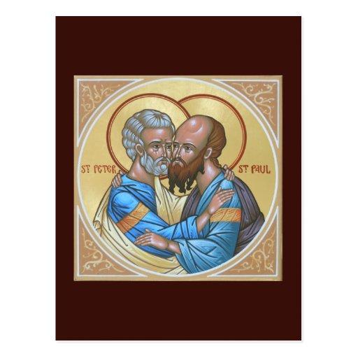 Saints Peter and Paul Prayer Card Postcard