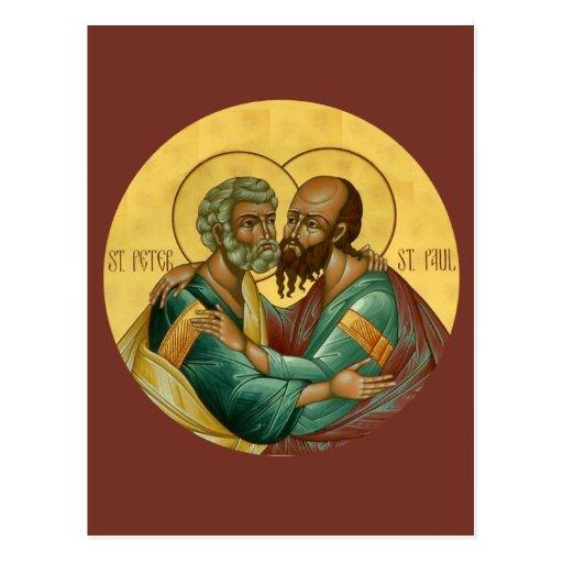 Saints Peter and Paul Prayer Card Post Cards