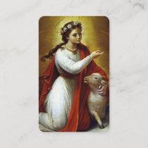 Saints Prayer Cards | St Agnes of Rome 2