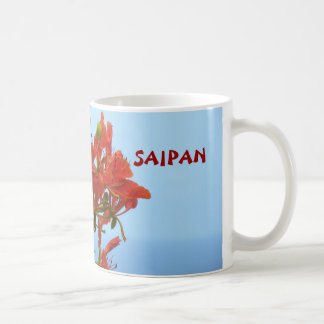 Saipan Flame Blossoms On An Ocean Of Blue Coffee Mug