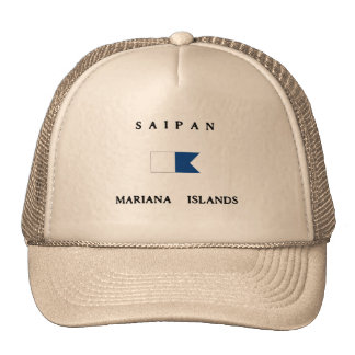 Saipan Mariana Islands Alpha Dive Flag Trucker Hat