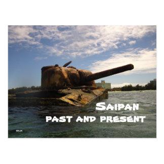 Saipan Past & Present Postcard