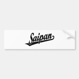 Saipan script logo in black car bumper sticker