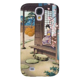 Saito Hodo Bijin por un jardín Engawa en primavera Funda Para Samsung Galaxy S4
