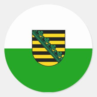 Sajonia, Alemania Pegatina Redonda