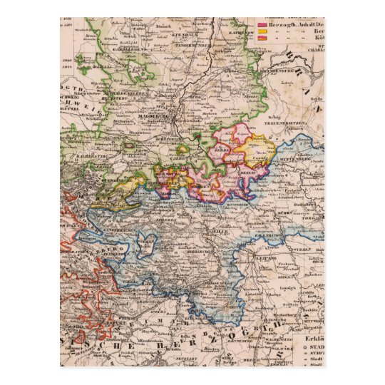 Sajonia, Anhalt Tarjeta Postal