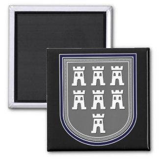 Sajonia Wappen Imán Cuadrado