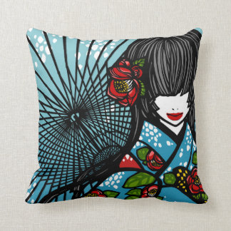 "SajuArt Zen ""Bangasa and Winter Camellia"" Pillow"