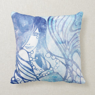 "SajuArt Zen ""Pearl Mermaid"" Pillow"