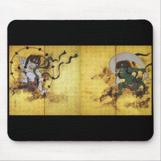 Sakai 抱 one _wind God thunder god figure Mouse Pad