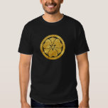 Sakai Mon Japanese samurai clan gold on black T Shirt