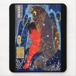 Sakata robust child circle, Utagawa country 芳 Mouse Pad
