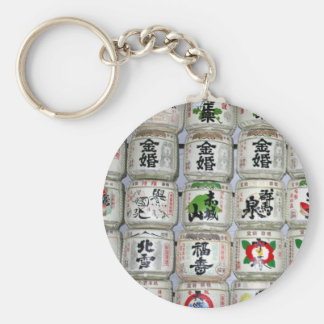 sake barrels japan keychain