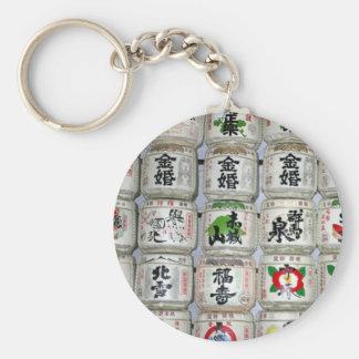 sake barrels japan key chain