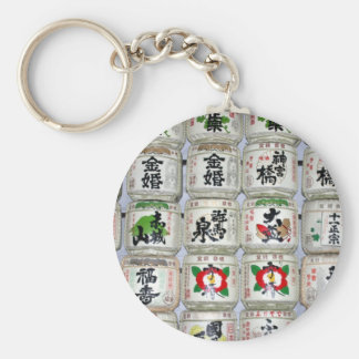 sake barrels keychain