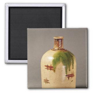 Sake bottle, from Oribe 2 Inch Square Magnet