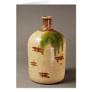 Sake bottle, from Oribe Card