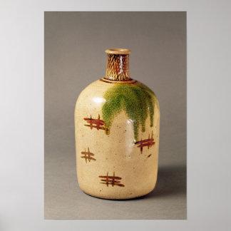 Sake bottle, from Oribe Poster
